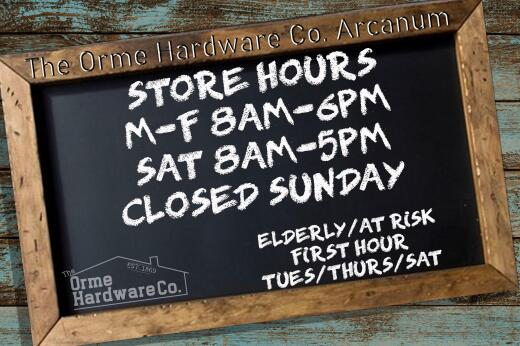 UPDATED HOURS