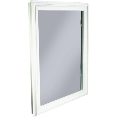 Northview Hemlock Hopper 32 In. W x 40 In. H White PVC Basement Window