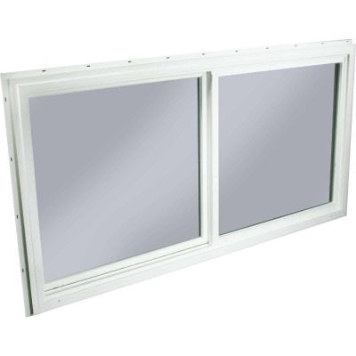 Northview 47-1/2 In. W. x 23-1/2 In. H. White PVC Single Glazed Utility Sliding Window