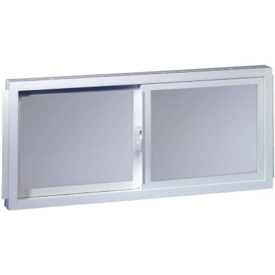 Northview Aspen Glider 32 In. W. x 19-1/4 In. H. White PVC Basement Window
