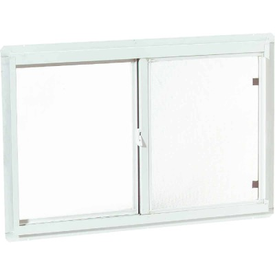 Croft Series 70 35 In. W. x 23 In. H. White Aluminum Sliding Window with Screen