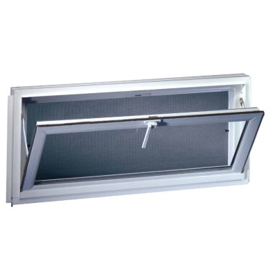 Northview Hemlock Hopper 32 In. W x 23-1/4 In. H White PVC Basement Window