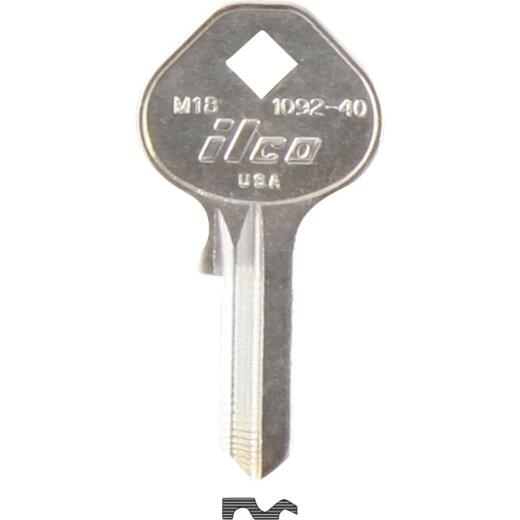 ILCO Master Nickel Plated Padlock Key, M18 (10-Pack)