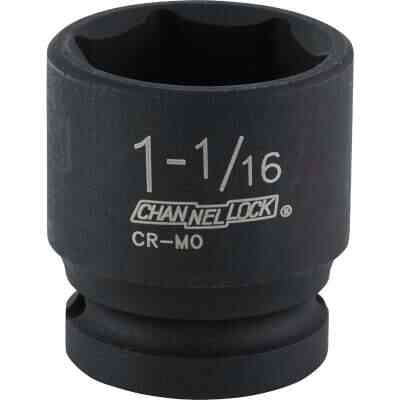Channellock 1/2 In. Drive 1-1/16 In. 6-Point Shallow Standard Impact Socket