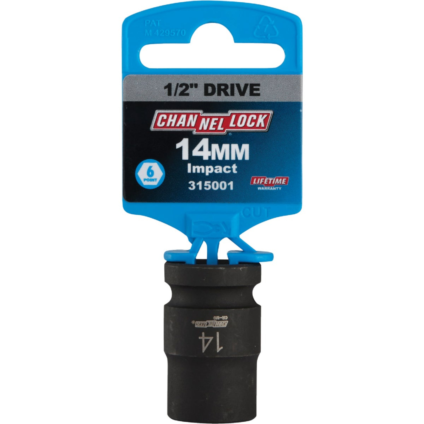 Channellock 1/2 In. Drive 14 mm 6-Point Shallow Metric Impact Socket Image 2