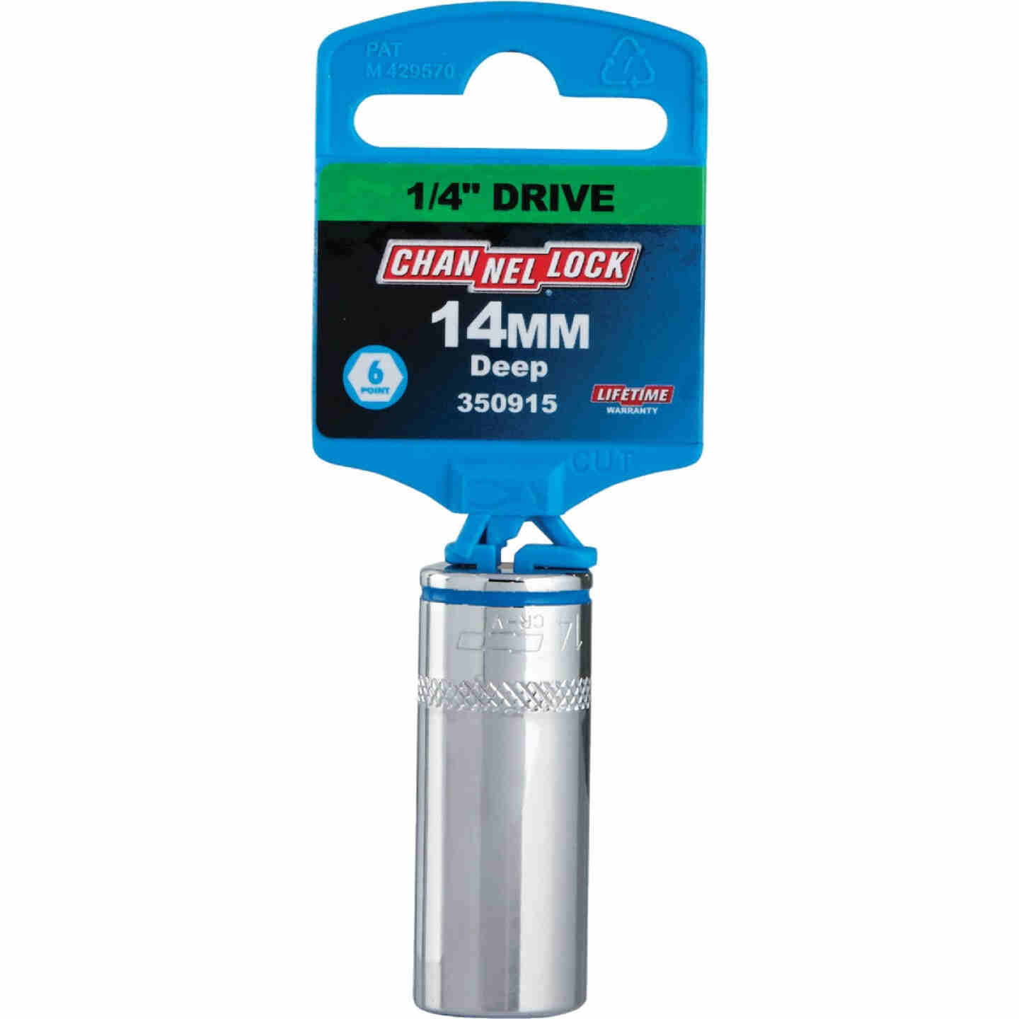 Channellock 1/4 In. Drive 14 mm 6-Point Deep Metric Socket Image 2