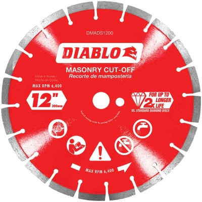 Diablo 12 In. Segmented Rim Dry/Wet Cut Diamond Blade