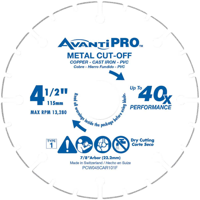 AvantiPRO Type 1 Carbide Grit 4-1/2 In. x 7/8 In. Metal Cut-Off Wheel Image 1