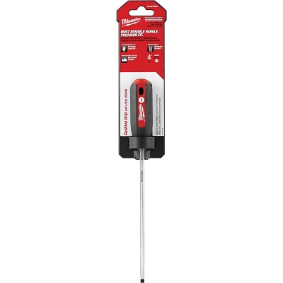 Milwaukee 3/16 In. x 6 In. Cushion Grip Cabinet Tip Slotted Screwdriver