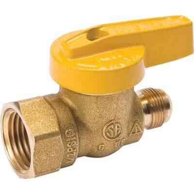 ProLine 9/16 In. x 1/2 In. x 9/16-24 Fine Flare Forged Brass Gas Valve