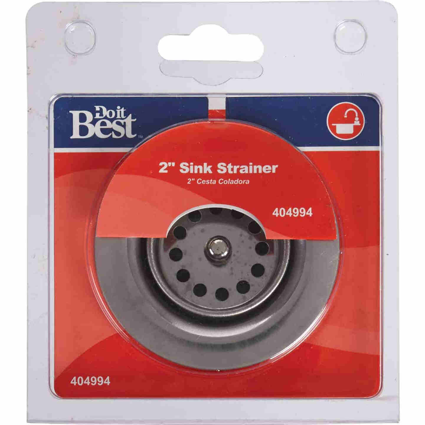 Do it 2 In. to 2-1/2 In. Jr. Duo Chrome Basket Strainer Assembly Image 2