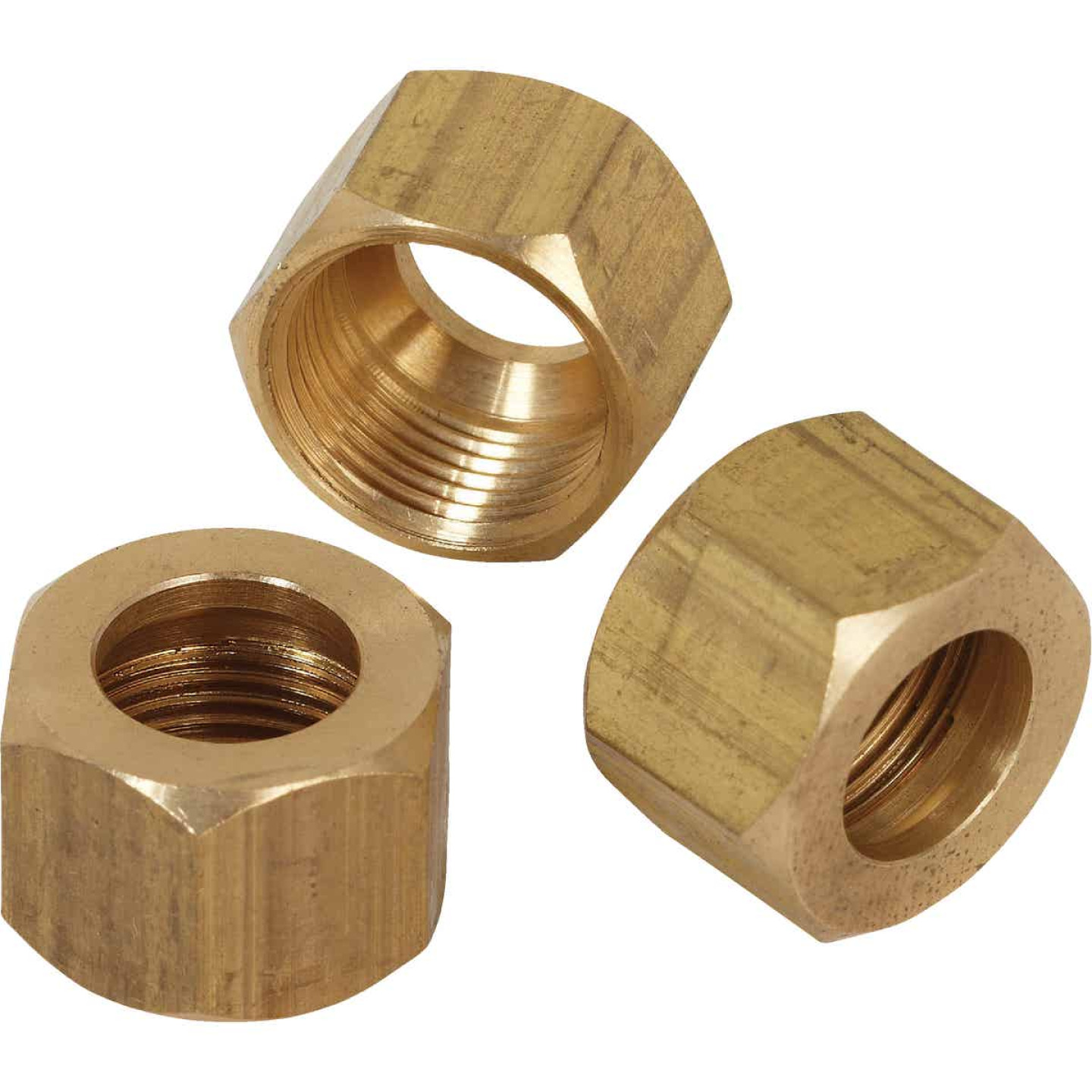 Do it 3/8 In. OD Brass Compression Nut (3-Pack) Image 1