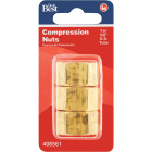 Do it 5/8 In. OD Brass Compression Nut (3-Pack) Image 2