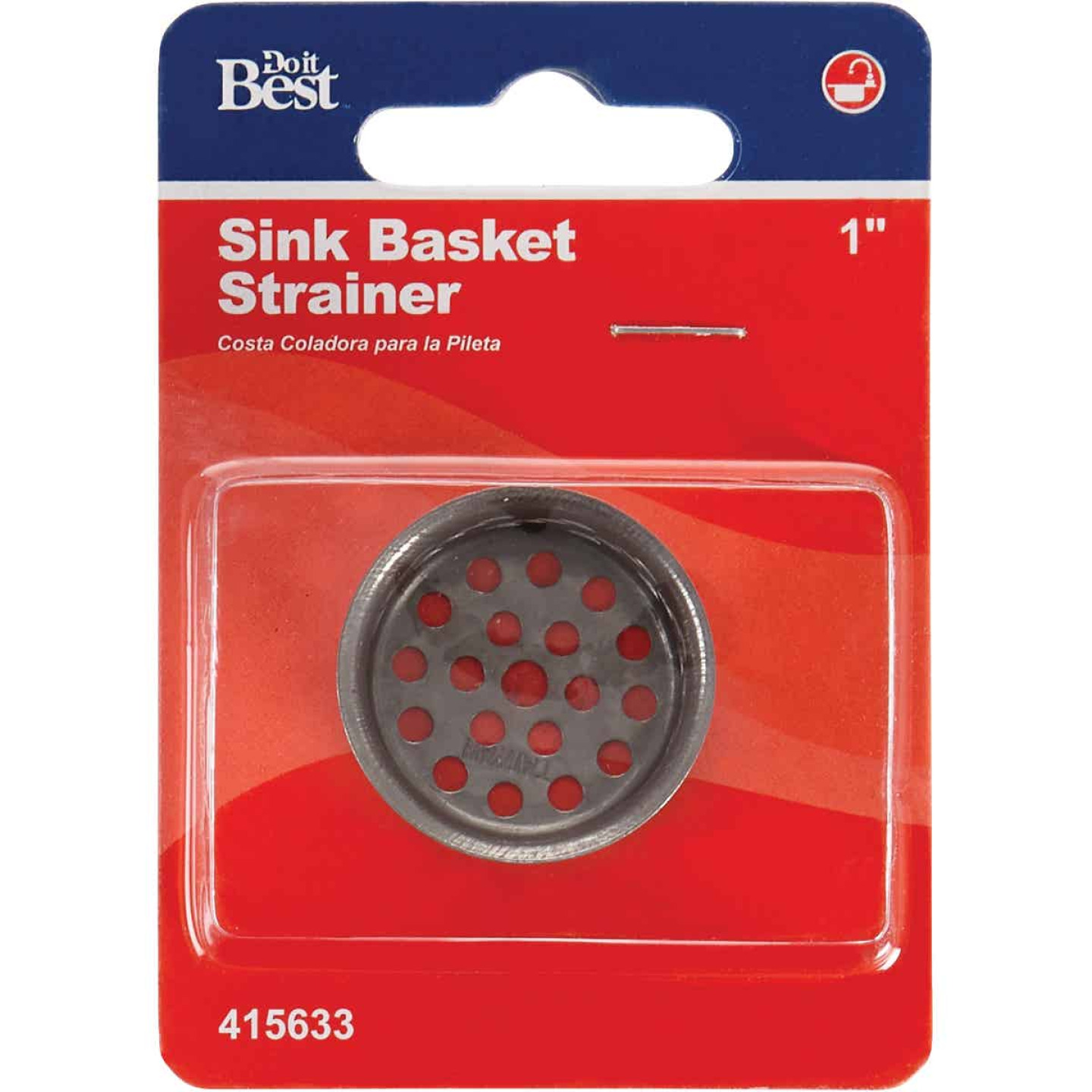 Do it 1 In. Chrome-Plated Steel Basin Drain Strainer Image 2