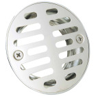 Do it 2 In. Cast Brass Shower Drain with 3-1/2 In. Stainless Steel Strainer Image 1