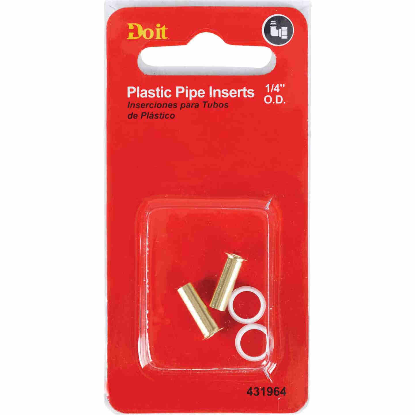 Do it 1/4 In. Brass Compression Insert (2-Pack) Image 2
