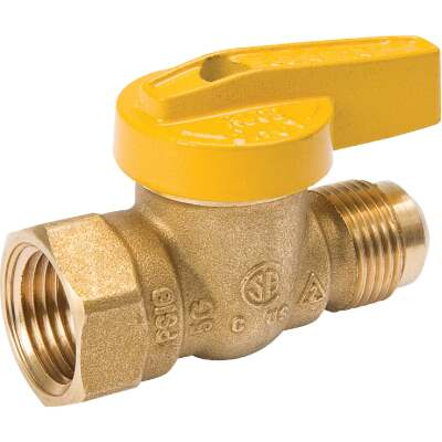 ProLine 3/8 In. Flare x 1/2 In. FIP Forged Brass Gas Ball Valve
