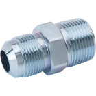 Dormont 5/8 In. OD Male Flare x 3/4 In. MIP (Tapped 1/2 In. FIP) Zinc-Plated Carbon Steel Adapter Gas Fitting, Bulk Image 1