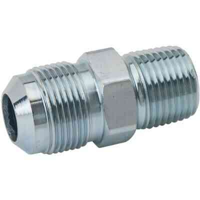 Dormont 5/8 In. OD Male Flare x 1/2 In. MIP (Tapped 3/8 In. FIP) Zinc-Plated Carbon Steel Adapter Gas Fitting, Bulk