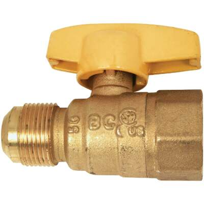 Dormont 5/8 In. OD Male Flare x 1/2 In. FIP Forged Brass Gas Shutoff Valve