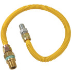 Dormont 1/2 In. OD x 48 In. Coated Stainless Steel Gas Connector, 1/2 In. MIP (Tapped 3/8 In. FIP) x 1/2 In. MIP SmartSense Image 1