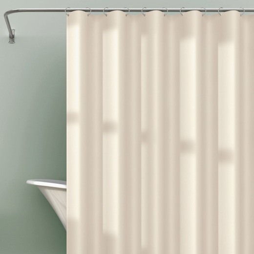 Zenna Home 70 In. x 71 In. Bone Heavyweight PEVA Shower Curtain Liner