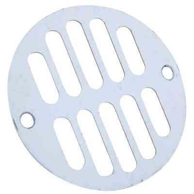 Do it 3-5/16 In. Chrome Grill Shower Drain Strainer