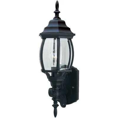 Home Impressions Black Incandescent A19 Outdoor Wall Light Fixture
