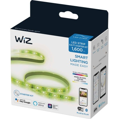 Wiz 6.6 Ft. L. Plug-In White 2700K to 6500K LED Strip Starter Kit