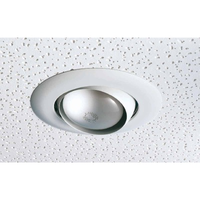 Thomas 6 In. White Eyeball Adjustable Spot Recessed Fixture Trim