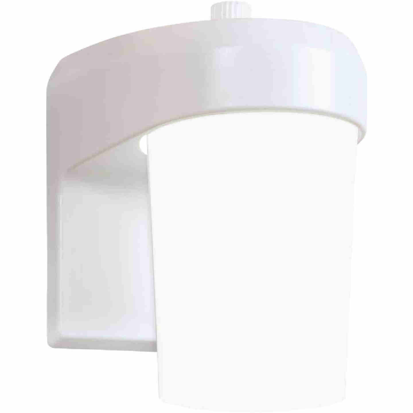 Halo White Dusk To Dawn LED Outdoor Area Light Fixture Image 1