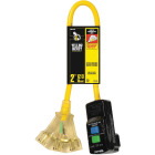 Yellow Jacket 2 Ft. 12/3 GFI Extension Cord with Powerblock Image 1
