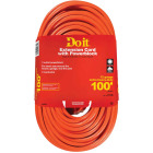Do it 100 Ft. 12/3 Extension Cord with Powerblock Image 1