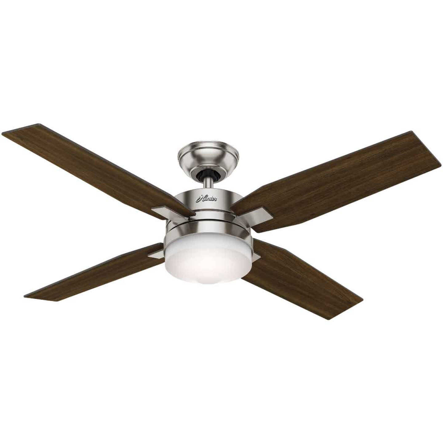 Hunter Mercado 50 In. Brushed Nickel Ceiling Fan with Light Kit and Fan Image 1