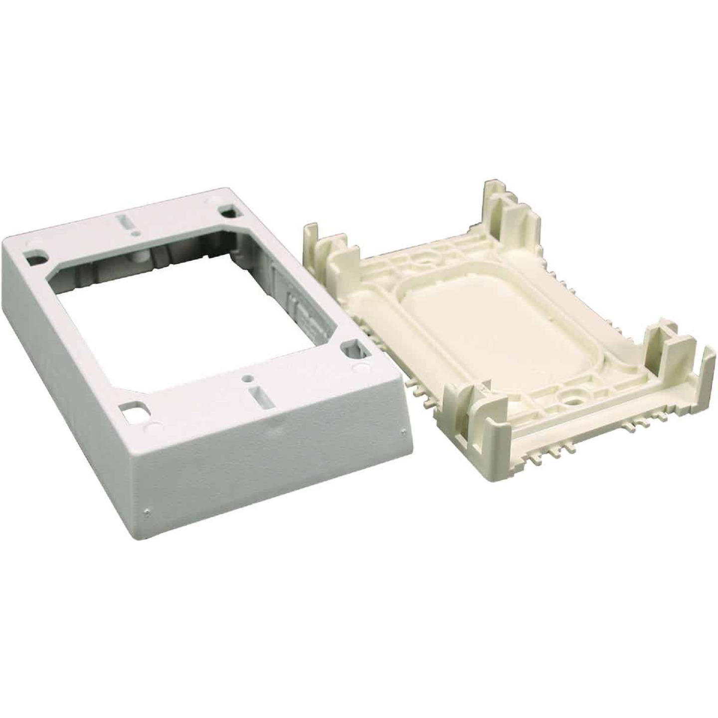 Wiremold CordMate White Plastic 1-3/4 In. Extra Deep Outlet Box Image 1