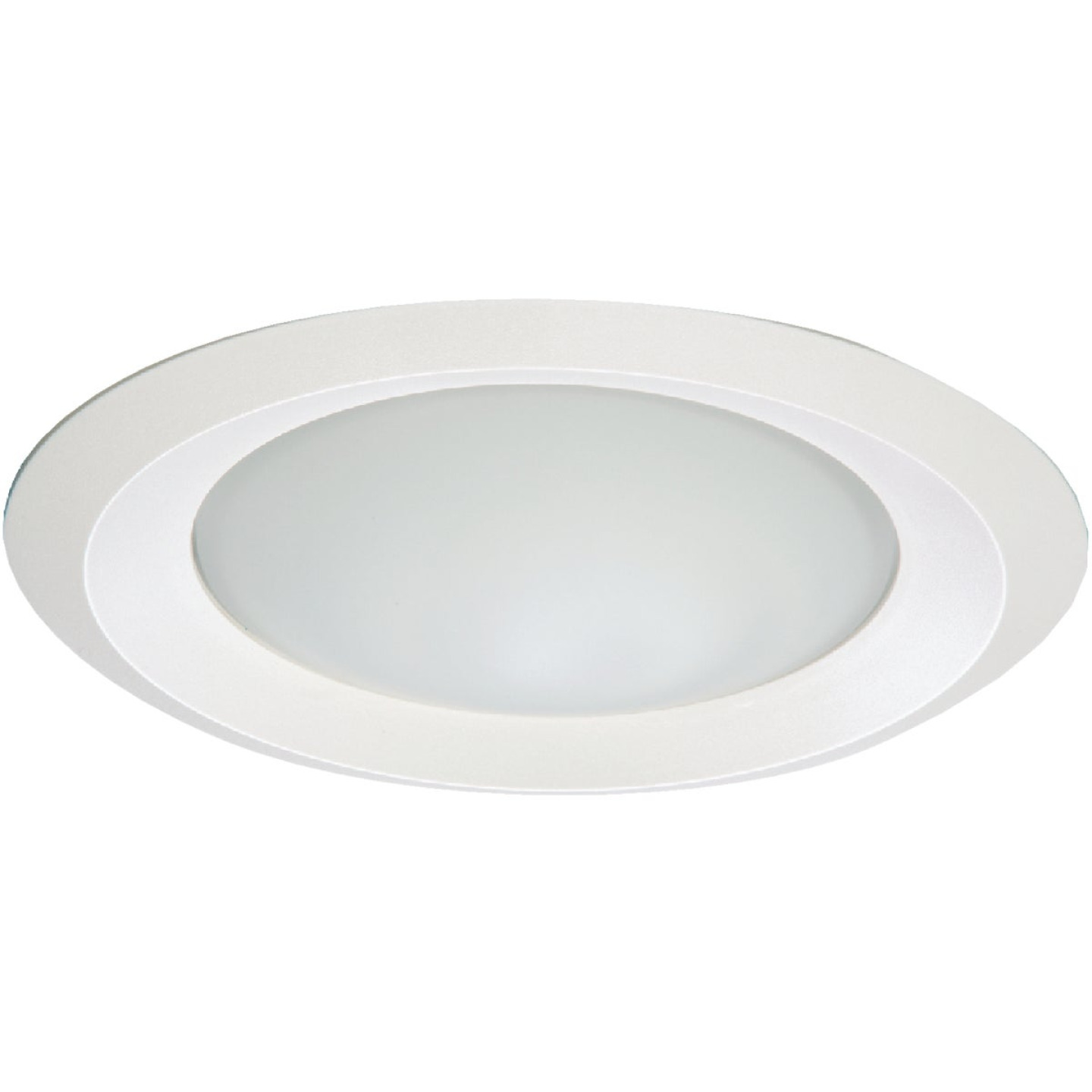Halo 6 In. White Disc Frosted Glass Lens Recessed Light Fixture Trim Image 1