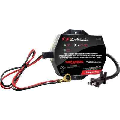 Schumacher Automatic 12V 1.5A Auto Battery Charger/Maintainer