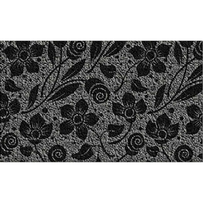 Americo Home Front Runner 18 In. x 30 In. Gray Flowers & Swirls Mat