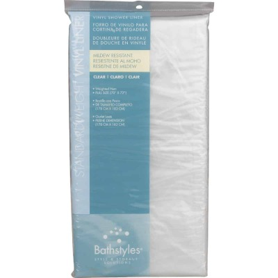 Zenith Bathstyles 70 In. x 72 In. Clear PEVA Shower Liner