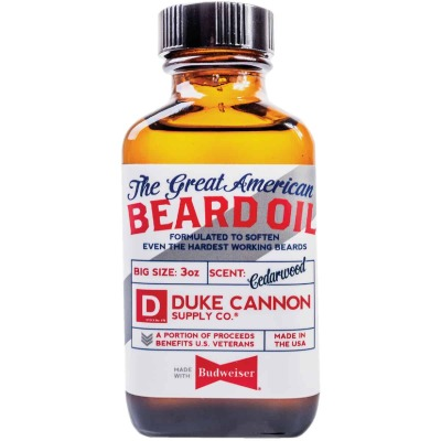 Duke Cannon 3 Oz. Great American Budweiser Beard Oil