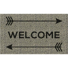 Americo Home Front Runner 18 In. x 30 In. Gold Welcome Arrows Mat Image 1