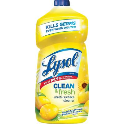 Lysol 40 Oz. Lemon & Sunflower Essence Clean & Fresh Multi-Surface Cleaner
