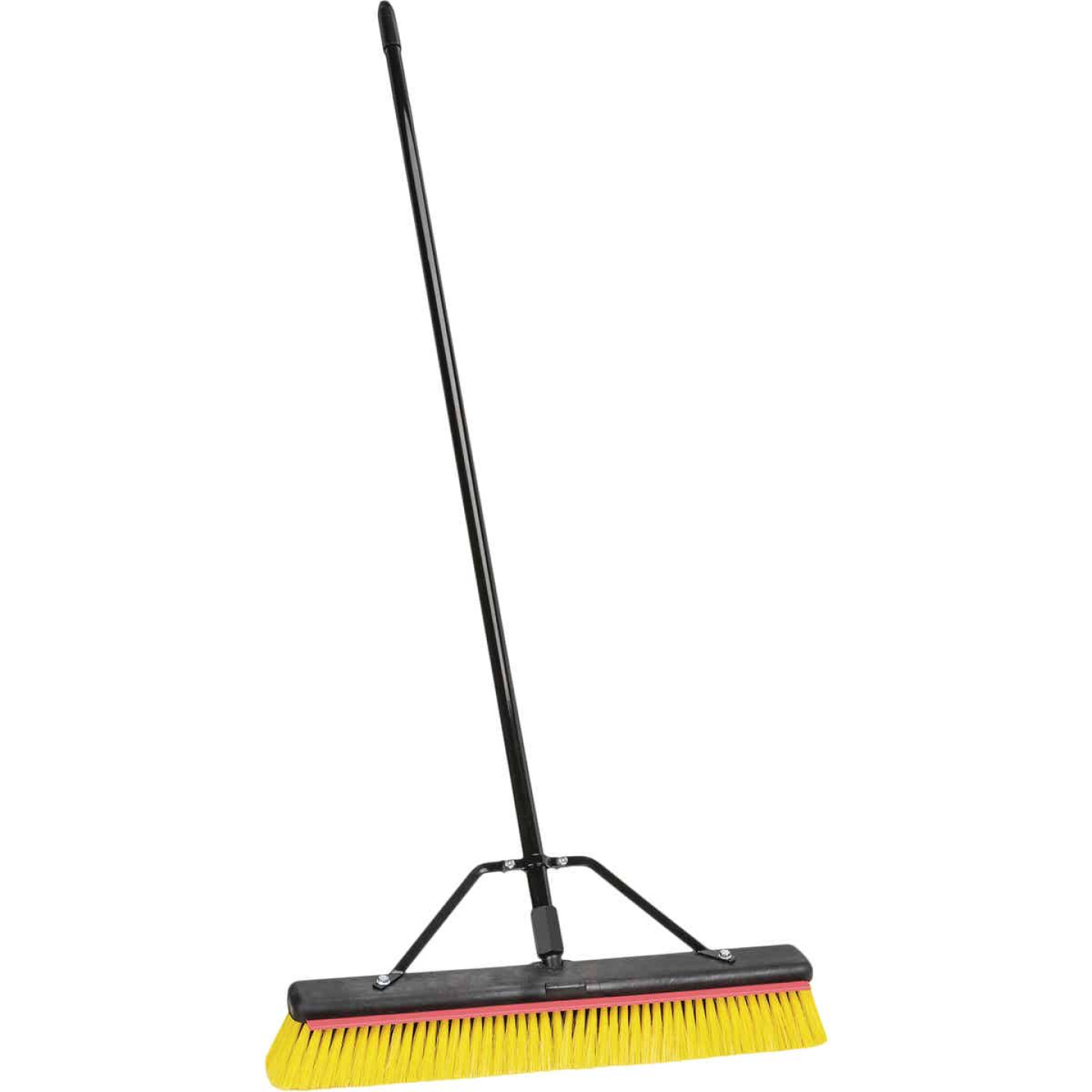 Harper 24 In. Multi-Surface Indoor/Outdoor Push Broom with Squeegee Image 1