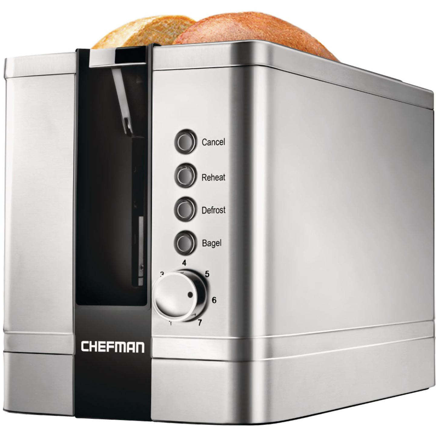 Chefman 2-Slice Stainless Steel Pop-Up Toaster with Extra Wide Slots Image 1