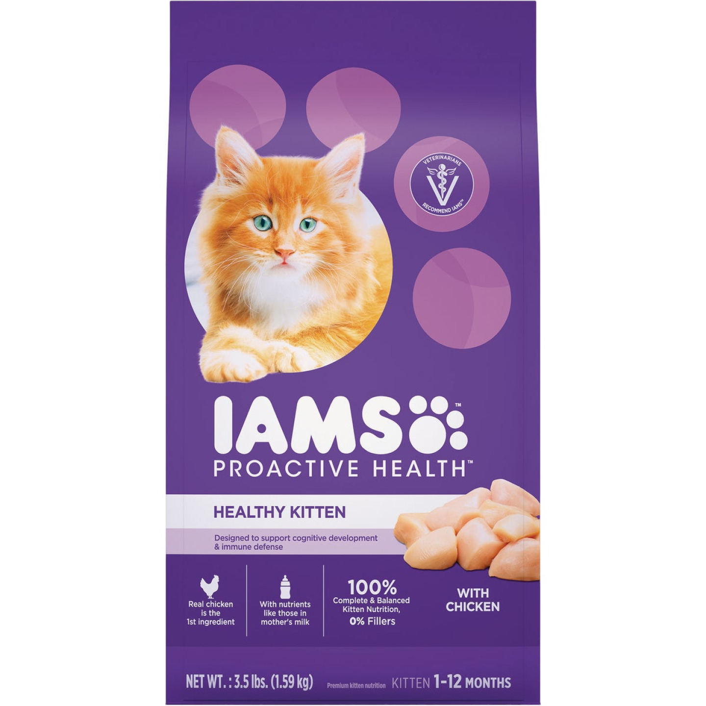 Iam Proactive Health 3.5 Lb. Chicken Flavor Dry Kitten Food Image 1