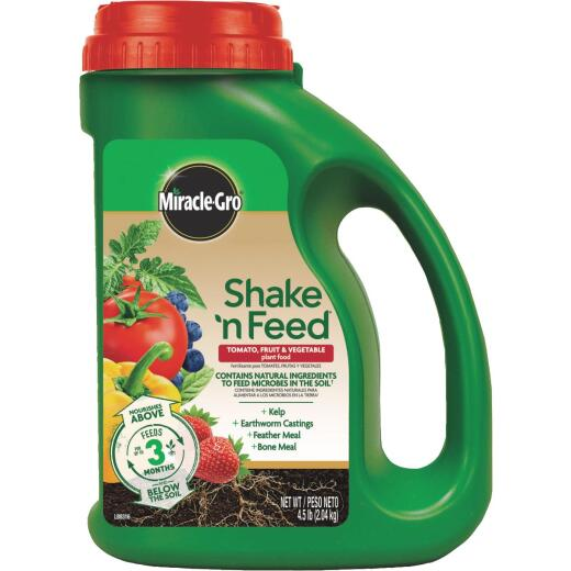 Miracle-Gro Shake N' Feed 4.5 Lb. 9-4-12 Tomato, Fruits & Vegetables Plus Calcium Dry Plant Food