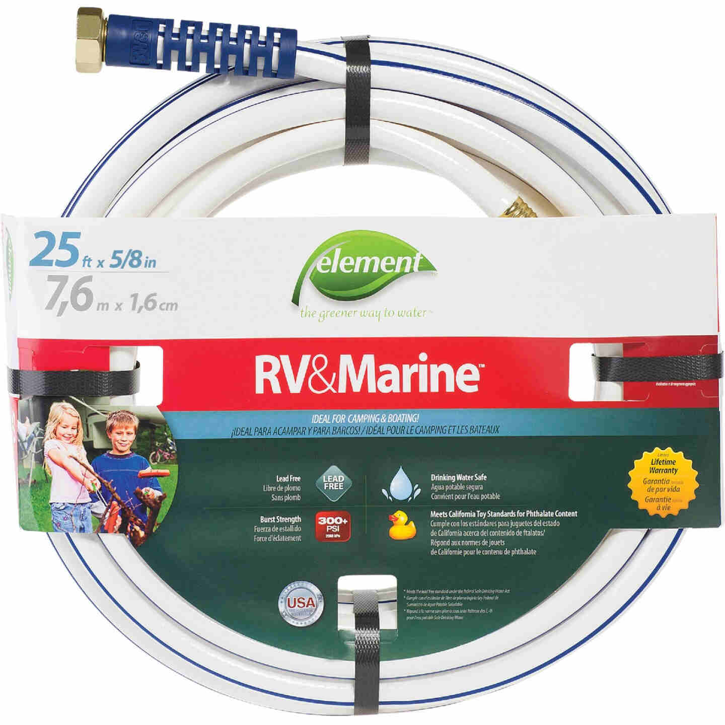 Element 5/8 In. Dia. x 25 Ft. L. Drinking Water Safe RV&Marine Hose Image 1