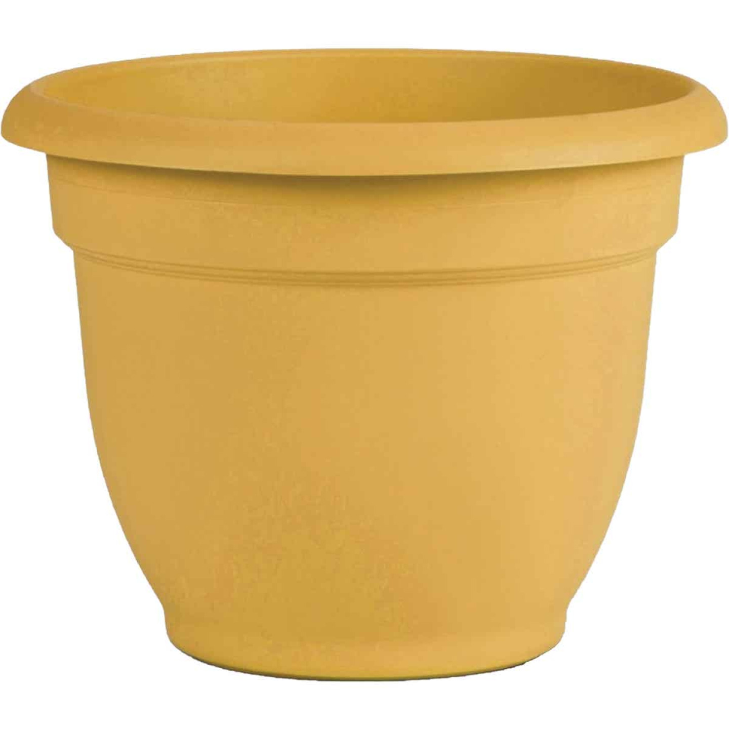 Bloem Ariana 6.5 In. H. x 6 In. Dia. Plastic Self Watering Earthy Yellow Planter Image 1