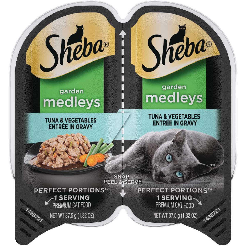 Sheba Perfect Portions Garden Medleys 2.6 Oz. Adult Tuna & Vegetables Wet Cat Food Image 1