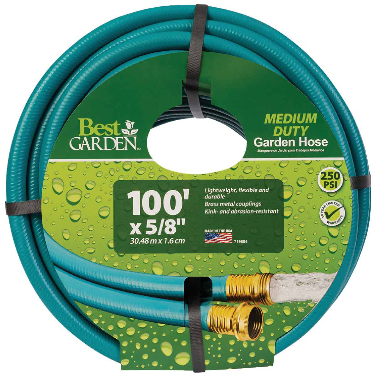 Flexon 5/8 In. Dia. x 100 Ft. L. Medium-Duty Vinyl Garden Hose W/Guard-N-Grip Image 1